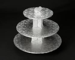 tier stand 232 silver cupcake stand 3 tier wall corrugated