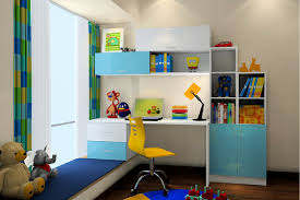 boys room indoor desk connect bay window interior design