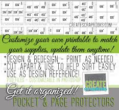 scrapbook page protectors customizable psd get it organized pocket page protectors