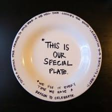 it s your special day plate family honor plate used when someone in the family has a special
