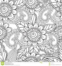 coloring pages for adults seamles henna mehndi doodles abstract