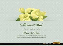 gardenia flower wedding invitation card vector download