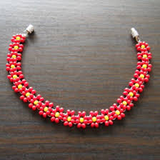 make bead flower bracelet images 152 best daisy images beaded jewelry tutorials jpg