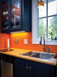 white kitchen cabinets orange walls 27 cheerful orange kitchen decor ideas digsdigs
