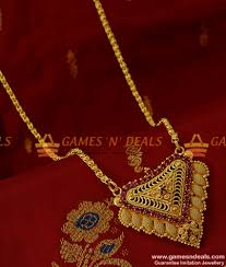 gold plated fashion necklace images Bgdr125 pure gold plated fashion jewelry big ruby dollar daily jpg