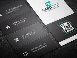 clean and basic vertical business card template cardzest