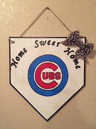 chicago cubs sign home plate sign cubs home plate chicago