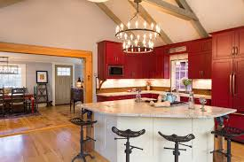 Kitchen Triangle With Island Triangle Island Kitchen Farmhouse With Beams Front Sinks