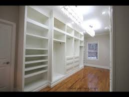 walk in closet furniture building built in wardrobe cabinets in walk in master closet youtube
