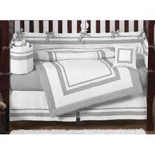 Sweet Jojo Designs Crib Bedding Sweet Jojo Designs Hotel White And Gray Collection 9pc Crib