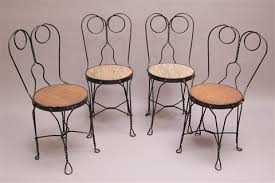 ice cream parlor table and chairs set ice cream parlor chairs set of 4 by royal metal manufacturing co of