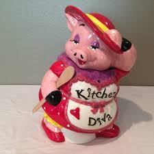 vintage mercuries kitchen diva pig cookie jar by kmscollectibles