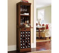 modular bar with wine grid tower pottery barn
