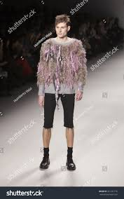 Japanese Designer by Male Model Walks Runway Japanese Designer Stock Photo 301251776