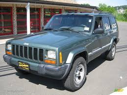 2000 jeep cherokee black 2000 medium fern green metallic jeep cherokee sport 4x4 31585514