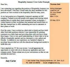 hospitality assessor cover letter example forums learnist org