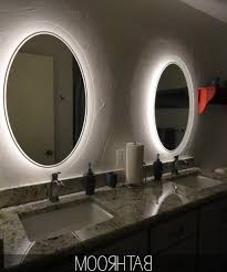 Oval Bathroom Mirror by Bathroom Lighting Oval Mirror Interiordesignew Com