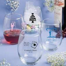 personalized favors 15 oz custom printed stemless wine glass wedding favors