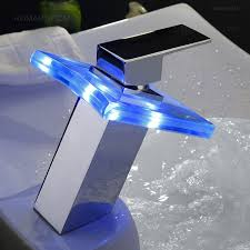 Led Bathroom Faucet Fun Led Waterfall Single Handle Bathroom Faucet