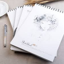 new 2017 a4 college wind sketch european retro sketchbook loose