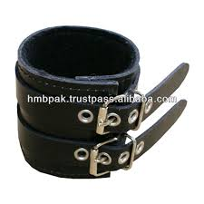 leather wrist strap bracelet images Hmb 402a leather hand cuff wrist band gothic bracelet black buy jpg