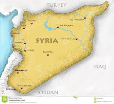 Damascus Syria Map by Syria Map Stock Illustration Image 52563753