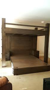 lofted full bed frame bedroom affordable wooden full size loft bed