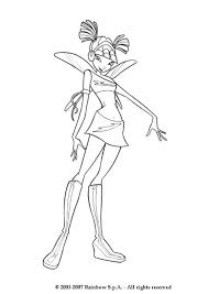 Musa From The Winx Club Coloring Pages Hellokids Com Winx Club Musa Coloring Pages