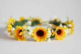 sunflower headband sunflower flower crown sunflower hair wreath autumn sunflower