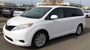 sienna pre owned white 2013 toyota sienna le awd walk around review
