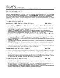 Resume For Financial Analyst 24 Best Finance Resume Sample Templates Wisestep