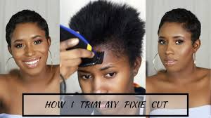 cut your own pixie haircut how i cut relax style my short hair at home pixie cut youtube