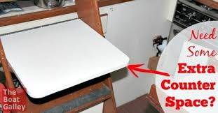 sink covers for more counter space add a removable counter the boat galley