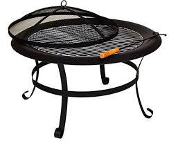 Fire Pit Poker by East2eden Black Steel 75cm Patio Heater Garden Firepit Fire Pit