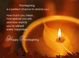 on thanksgiving wish each other and tell them we are happy