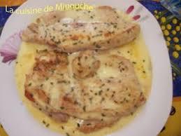 cuisiner escalope de dinde escalopes de dinde à la cancoillotte recette ptitchef