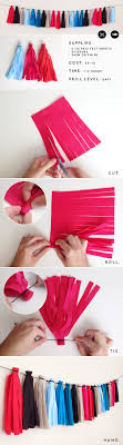 diy felt tassel garland easy inexpensive durable and