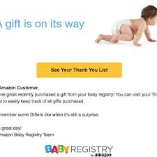 baby registery is telling customers that bought gifts for their non