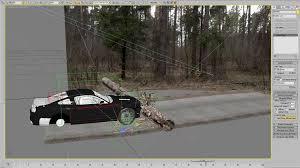 making of car crash scene