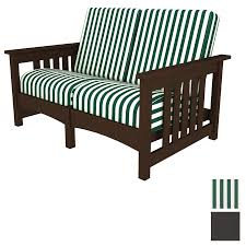 Outdoor Patio Loveseat Shop Polywood Deep Seating Club Mission Resin Patio Loveseat With