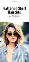 the most flattering short haircuts for thick hair thicker hair