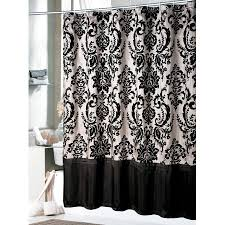 Black Grey And White Curtains Ideas York Fabric Shower Curtain Black In Shower Curtains And Top 20