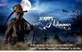 scary halloween status quotes wishes sayings greetings images spooky happy halloween quote with scary image