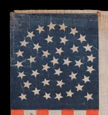 Us Flag 1860 Jeff Bridgman Antique Flags And Painted Furniture 38 Stars In A