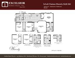 schult modular home floor plans schult chateau waverly excelsior homes west inc