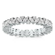 eternity ring marquise and diamond laurel eternity ring