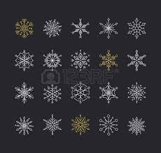 snowlakes geometric line ornaments background