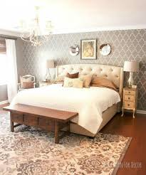 13 stylish ideas you ll want to steal for your boring bedroom paint an accent wall with a stencil