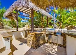 Outdoor Kitchen Lighting Ideas Kitchen Wonderful Tropical Outdoor Kitchen Designs Ideas Rustic