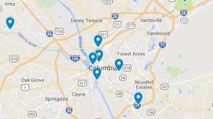 map of columbia south carolina top 8 parks in columbia south carolina rover